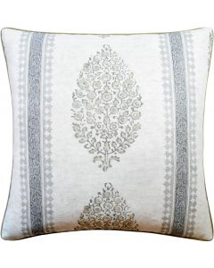 Marathi Decorative Throw Pillow in Grey