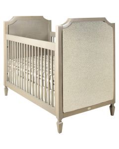 Hollywood Regency Custom Crib With Upholstered Panels - Available in a Variety of Colors