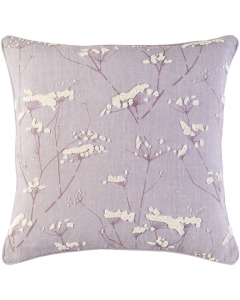 Mauve and Cream Branches Design Woven Linen Pillow - Available in a Variety of Sizes - FINAL STOCK, CALL TO CONFIRM AVAILABILITY