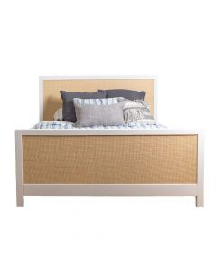 Modern Custom Bed With Caning - Available in a Variety of Sizes and Colors