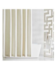 Kravet Madison White Linen Shower Curtain