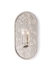 Mercury Glass Oblong Vintage Style Wall Sconce -  Available in 3 Finishes