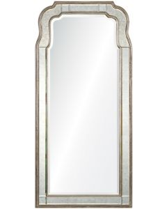 Michael S. Smith Silver Leaf Queen Anne Mirror
