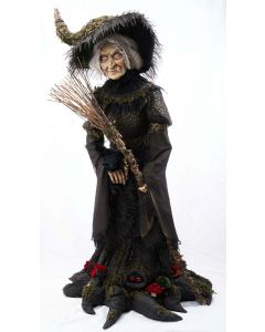 Midnight Witch Life Size Doll Decoration