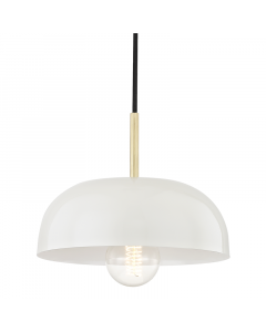 Mitzi by Hudson Valley Lighting Avery Colored Hanging Pendant  Available in Four Finishes and Two Sizes