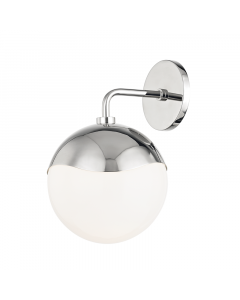 Mitzi by Hudson Valley Lighting Ella Circular Glass Wall Sconce  Available in Three Finishes