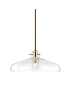 Mitzi by Hudson Valley Lighting Nemo Hanging Ceiling Pendant with Glass Shade  Available in Three Finishes