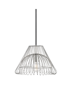 Mitzi by Hudson Valley Lighting Small Katie Metal Caged Hanging Ceiling Pendant  Available in Three Finishes