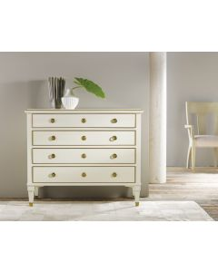 Modern History 19th Century Classical Chest in White