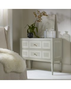 Modern History Milan Commode with Grey Paint and Ivory Accent