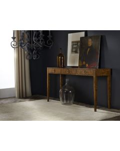 Modern History Three Drawer Console in Burl - ON BACKORDER UNTIL EARLY JUNE 2019