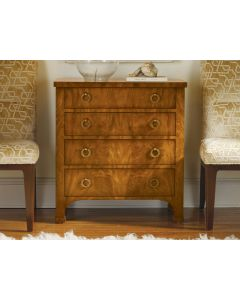 Modern History Walnut Biedermeier 4-Drawer Chest