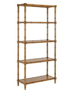 Modern Bamboo Style Four Tier Etagere  - ON BACKORDER UNTIL LATE NOVEMBER 2019
