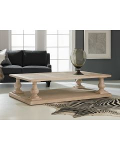 Modern History Harwood with Oak Ballastrade Cocktail Table
