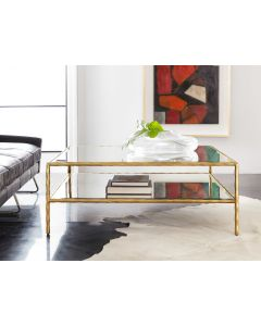 Modern History Organic Square Cocktail Table in Gold Leaf - ON BACKORDER UNTIL MAY 2020
