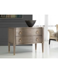 Modern History Sycamore Grey Serpentine Chest with Brass Details