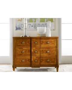 Modern History Walnut with Inlay Continental Commode