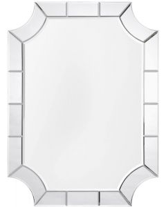 Modern Mirror Framed Wall Mirror With Curved Edges