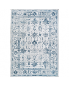 Monica Blue and Grey Abstract Geo Area Rug - Available in a Variety of Sizes