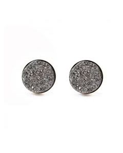 BARGAIN BASEMENT ITEM: Post Round Pewter Earrings - IN STOCK IN GREENWICH, CT FOR QUICK SHIPPING