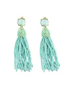 Mykonos Beaded Tassel Earrings - Available in a Variety of Colors - OUT OF STOCK