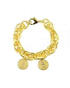 2 Charm Bracelet - Available in Silver or Gold