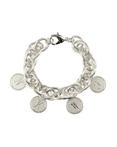 Moon & Lola Preston Family 4 Charm Bracelet - Available in Silver or Gold