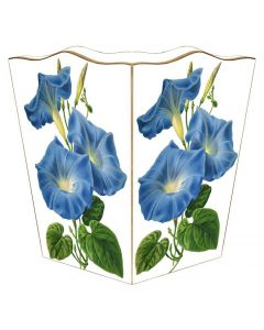 Morning Glories Wastebasket and Optional Tissue Box Cover