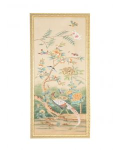 Multicolor Birds on Tree Chinoiserie Panel Wall Art 1