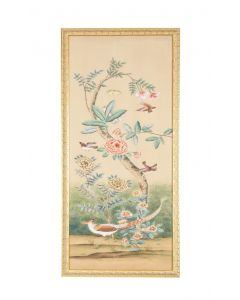 Multicolor Birds on Tree Chinoiserie Panel Wall Art II