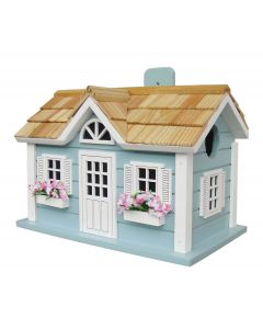 Nantucket Cottage Birdhouse in Blue With Optional Pedestal - ON BACKORDER UNTIL APRIL 2020