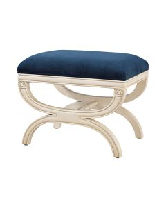 Napoleon French Inspired Bench in Cream and Navy