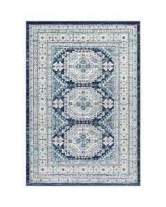 Natalie 5x7 Aqua and Light Grey Geometric Rug - Available in a Variety of Sizes
