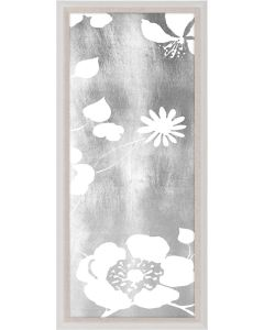 Natural Curiosities Academy Silver Floral Panel 1 Wall Art with Optional Frame