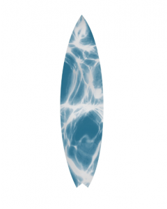 Natural Curiosities Blue Surfboard No.3 Wall Art