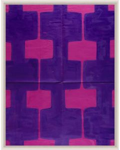 Natural Curiosities Paule Marrot Fuschia Pink & Purple Reproduction Wall Art with Optional Frame