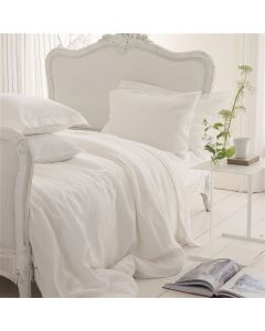 Natural Linen Bedding in White