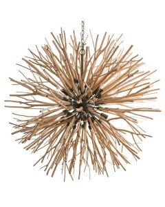 Arteriors Finch Natural Wood Branches Orb Chandelier