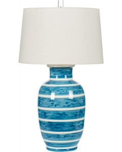 Nautical Blue and White Striped Ceramic Table Lamp - ON BACKORDER UNTIL MID-FEBRUARY 2021