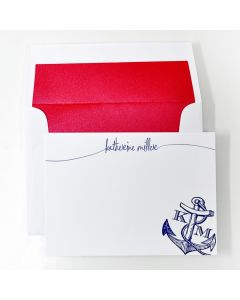 Nautical Personal Stationery, Set of 50