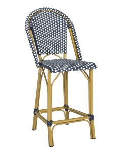Navy and White French Bistro Stacking Counter Stool - ON BACKORDER UNTIL LATE APRIL 2019