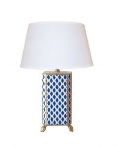Navy Parsi Table Lamp with White Shade