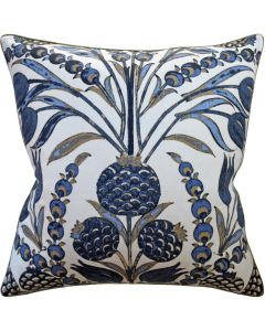 Navy Cornelia Decorative Square Throw Pillow - Available in Two Sizes