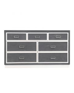 Modern Custom 7 Drawer Dresser With Geometrical Mouldings - Available in a Variety of Finishes