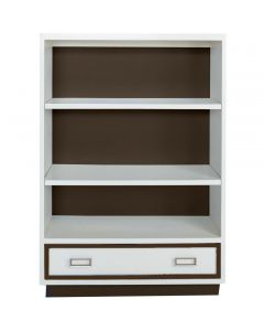 Modern Custom Bookcase With Mouldings and Storage - Available in a Variety of Finishes