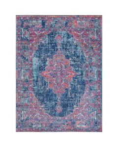 Nicole Pink and Aqua Medallion Abstract Rug - Available in a Variety of Sizes