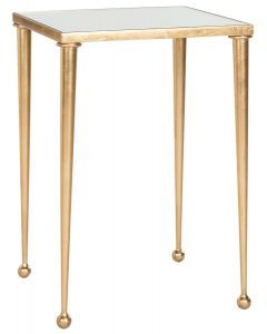 Hudson Antique Gold Leaf End Table with Mirror Top - OUT OF STOCK