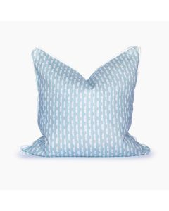 Oklahoma Slub Square Pillow in Powder Blue