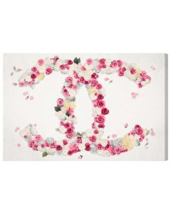 """Dreaming of Classic Beauty"" Floral Chanel Logo Wall Art - Available in 5 Sizes"