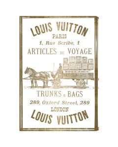 """Articles De Voyage Gold Leaf"" Louis Vuitton-Inspired Wall Art - Available in 5 Sizes"